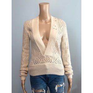 🆕 Rebecca Taylor cream mohair v neck sweater